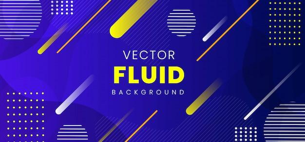 Modern abstract fluid banner
