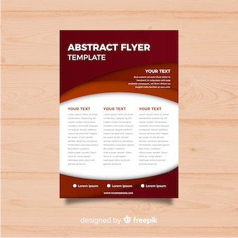 Modern abstract flyer template with flat design