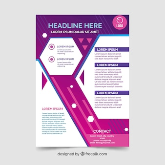Modern abstract flyer template with geometric design