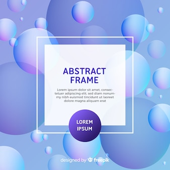 Modern abstract frame with bubbles