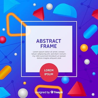 Modern abstract frame with geometric style
