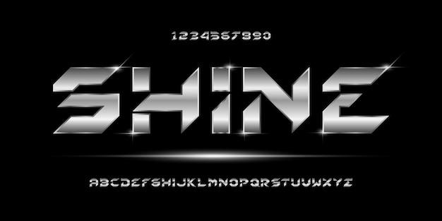 현대 추상 미래 알파벳 글꼴 인쇄 술 도시 스타일