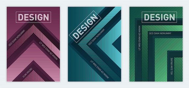 현대 추상 기하학적 a4 크기 표지 디자인