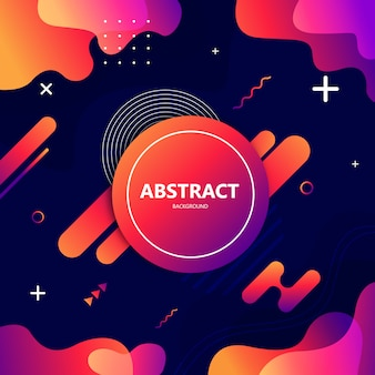 Modern abstract geometric background gradient style