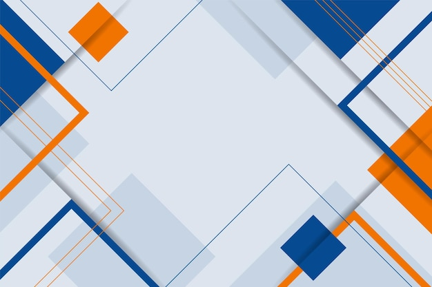 Modern abstract geometric background minimalist colorful blue and orange