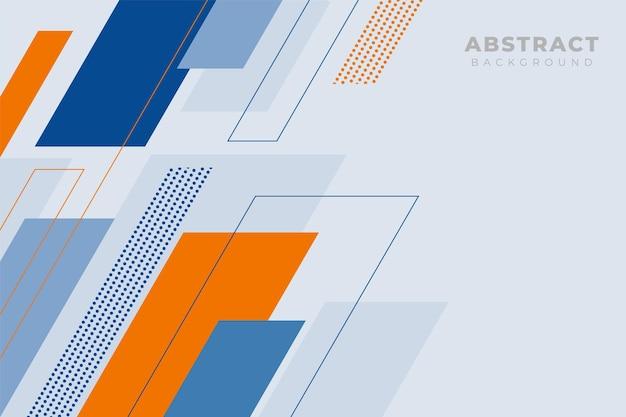 현대 추상적인 기하학적 배경 미니멀리즘 대각선 블루와 오렌지