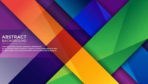 Modern abstract geometric colorful background