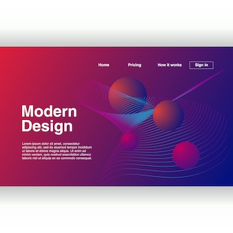 Modern abstract geometric design background for landing page