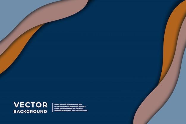 Modern abstract geometric paper cut blur background