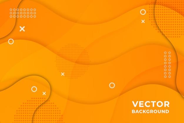 Modern abstract geometric paper cut orange background