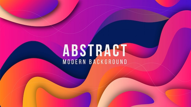 Modern abstract geometric shape gradient background