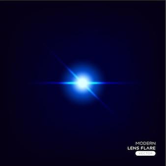 現代の抽象的な光るレンズフレアエフェクト
