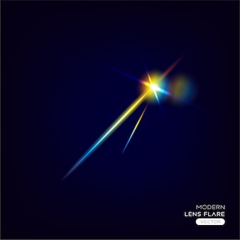 Modern abstract glowing lens flare effect
