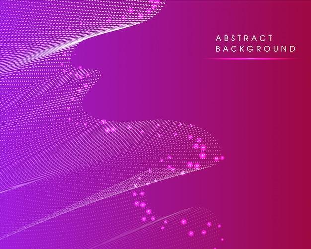 Современный абстрактный светящийся фиолетовый