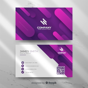 Modern abstract gradient business card