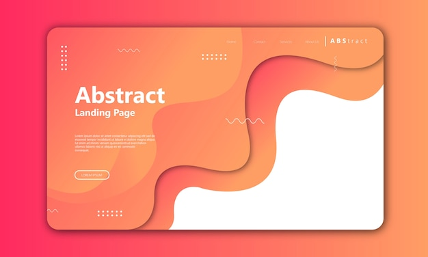 Modern abstract gradient card