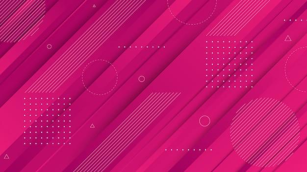 現代の抽象的なグラフィック要素。流れる液体の形と斜めの線で抽象的なグラデーションバナー。ランディングページデザインまたはwebサイトの背景のテンプレート。