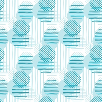 Modern abstract green color circles shapes and stripes. chaotic pattern circle lines. seamless pattern illustration.