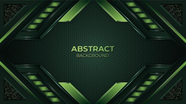 우아한 모양과 반짝임 반짝임 점 요소 장식 현대 추상 녹색 유기 배경