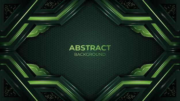 Современный абстрактный зеленый органический фон с элегантной формой и украшением элемента блестки точек