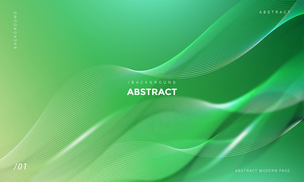Modern abstract green wave background