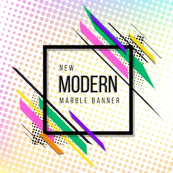 Modern abstract halftone banner