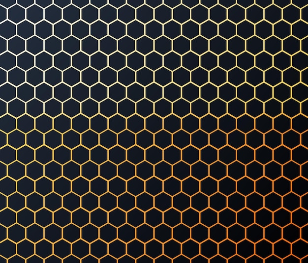 現代の抽象的な六角形の背景ベクトル