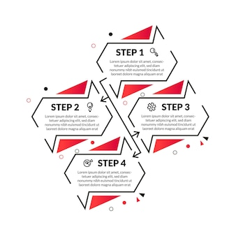 Modern abstract infographic with thin line and 4 options or step. perfect for presentation, process diagram, workflow, and banner