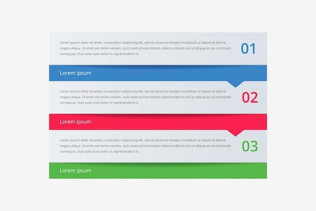 Современная абстрактная инфографика с тремя шагами или элементами процессов. хронология бизнес-концепции. вектор