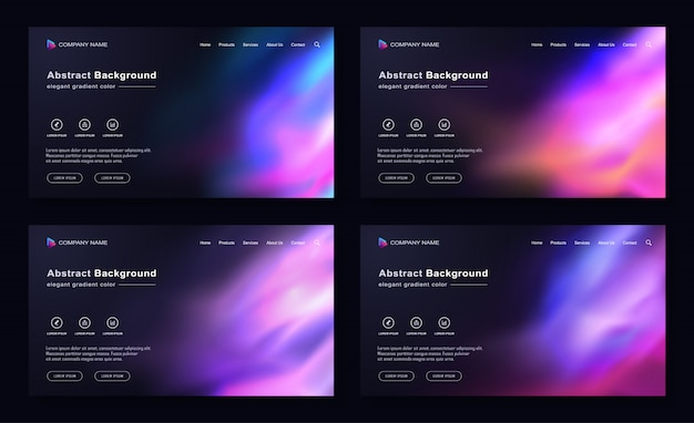 Modern abstract landing page space background