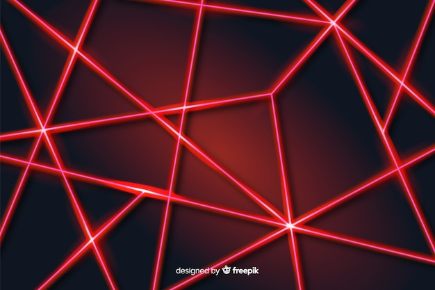 Modern abstract laser lines geometric background Premium Vector