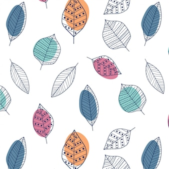 Modern abstract leaf pattern