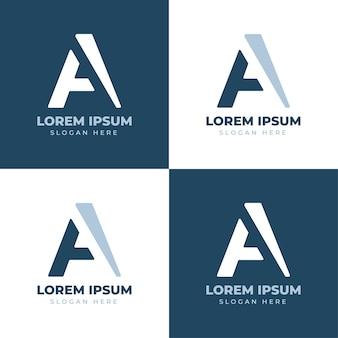 現代の抽象的な文字アイデンティティブランドのロゴ