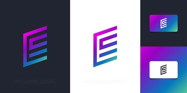 Modern and abstract letter e logo design template in colorful gradient with minimal concept. graphic alphabet symbol for corporate business identity