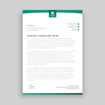 Modern abstract letterhead design