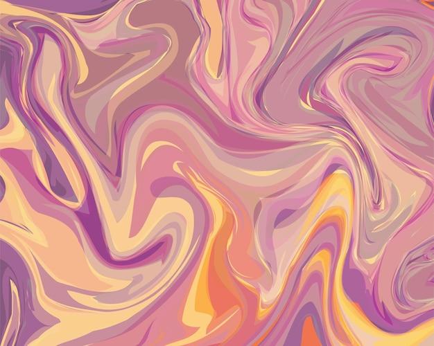 現代の抽象的な液体の背景。印刷バナー、ポスター、webページ、着陸のためのカラー流体ペイント動的コンセプトテンプレート。フラットなデザイン。ベクトルイラスト。