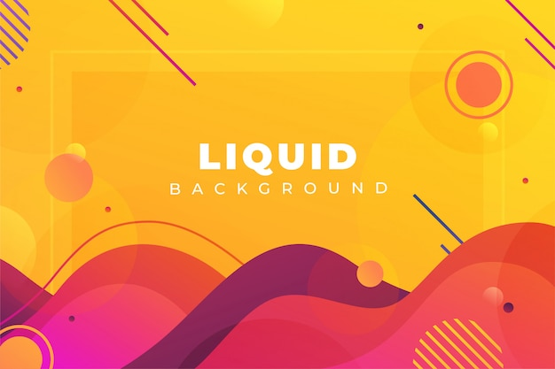 Modern abstract liquid shapes background