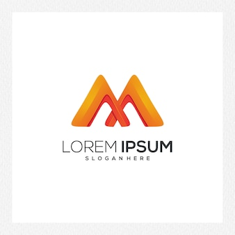 Modern abstract logo or logotype template for brand identity