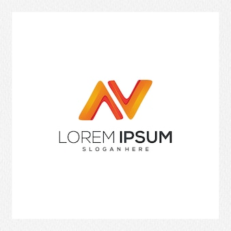 ブランドアイデンティティのモダンな抽象的なロゴまたはロゴタイプテンプレート