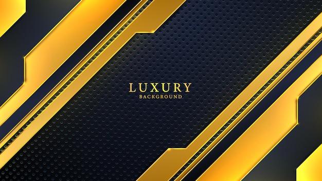 검은색과 황금색 크리에이 티브 모양으로 현대 추상 럭셔리 배경