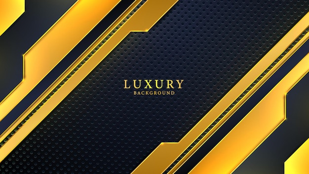 Modern abstract luxury background with black and golden creative shapes