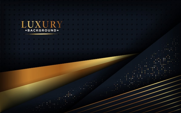 Modern abstract luxury black background overlap.