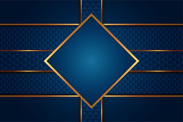 Modern abstract of luxury gradient blue background with golden lines template