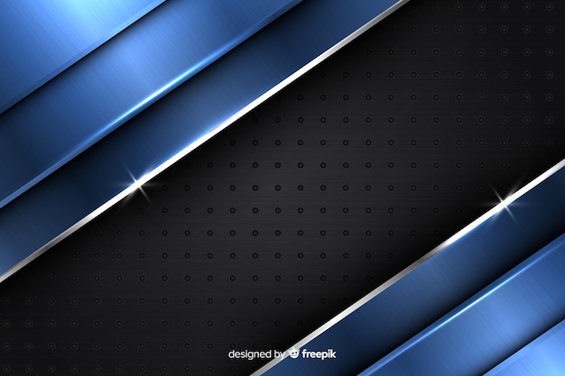 Modern abstract metallic blue background design