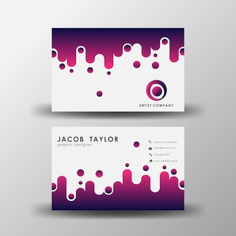 Modern abstract minimal business card template element Premium Vector