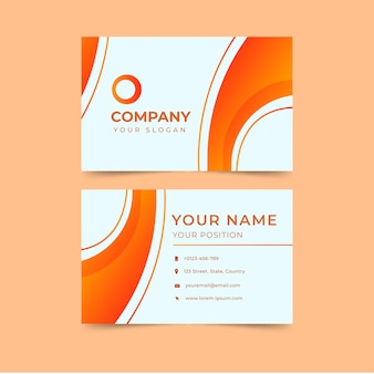 Modern abstract orange business card template
