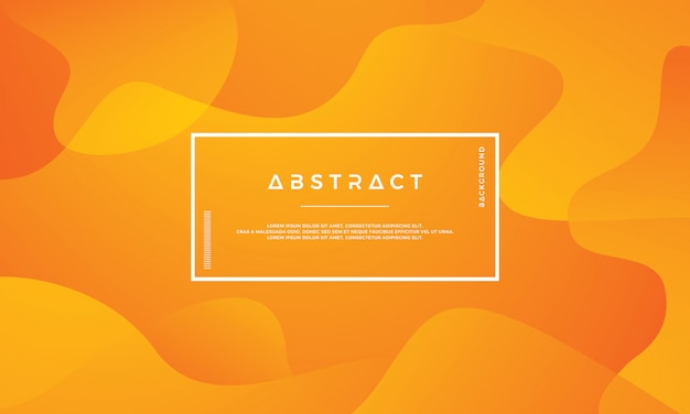 Modern abstract orange vector background.