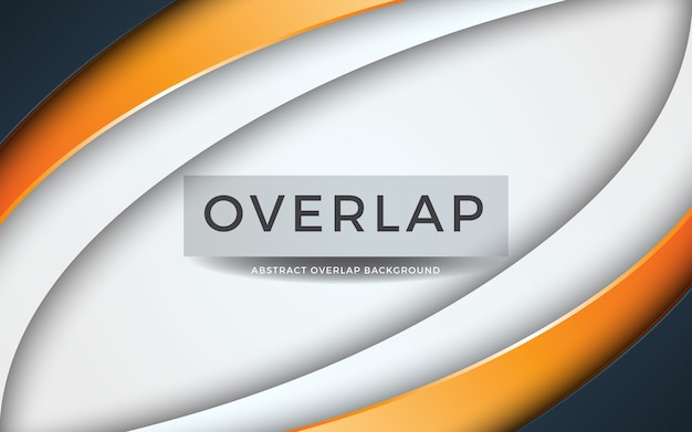 Modern abstract overlap on white background with orange layer