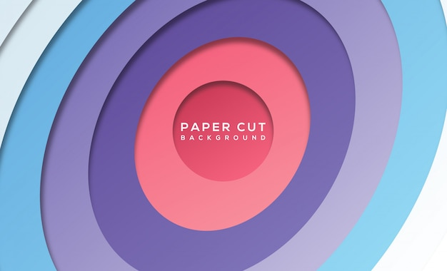 Modern abstract paper cut background