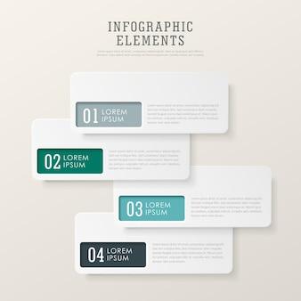 현대 추상 종이 태그 infographic 요소 템플릿